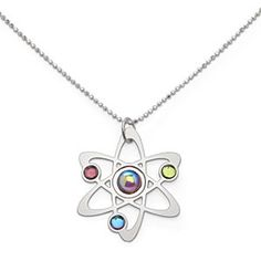 ThinkGeek :: Rutherford-Bohr Model Atom Necklace