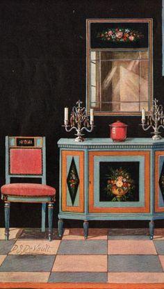 Art Deco 1923 Advertising Furniture Art Deco Style decor by vintagepaper