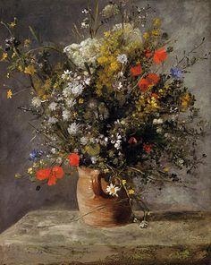 Flowers in a Vase, Pierre-Auguste Renoir.