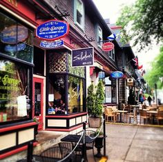 Hydrostone - Halifax, Nova Scotia - a great place to spend some time.  Have an almond croissant at Julien's bakery, shop for yarn at LK Yarns, browse the antique store.....