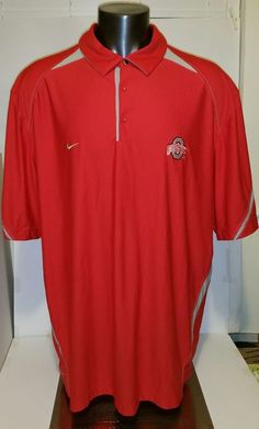 288b9b08e Nike Dri Fit Ohio State Buckeyes Polo Shirt Short Sleeve Men Size 3XL Red   NIKE  OhioStateBuckeyes. GFORCE2BUY · Affordable NFL Jersey