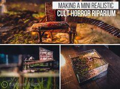 Learn how to make a horror-style riparium with realistic Halloween aquarium decor and a few other simple materials. A Bantamarium series...