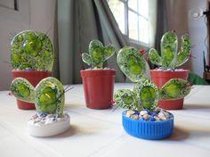 vitrofusion mendoza - Buscar con Google Glass Cactus, Planter Pots, Mendoza, Google, Ideas, Fused Glass, Cactus, Thoughts