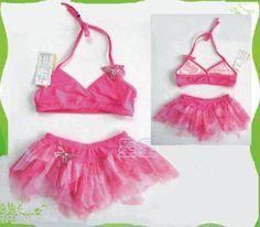 NWT Girls Swimwear Swimsuit Bathers Tutu Bikini SZ 4-5