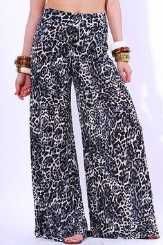 Animal banded waist comfy lounge pants