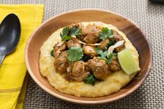 Recipe: Trinidadian Chicken Curry with Coconut Grits & Collard Greens - Blue Apron Curry Spices, Caribbean Recipes, Caribbean Food, Collard Greens, Cereal Recipes, Chicken Seasoning, Grits, How To Cook Chicken, The Fresh