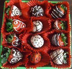 Resultado de imagen para fresas decoradas con chocolate
