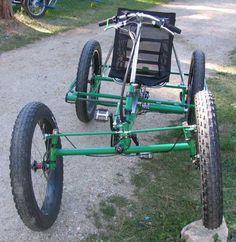 The ATC all terrain recumbent quadracycle. Velo Retro, Velo Vintage, 4 Wheel Bicycle, Push Bikes, Quad Bike, Cargo Bike, Pedal Cars, Bicycle Design, Go Kart