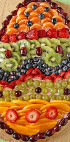 Easter Fruit Pizza - SugarHero