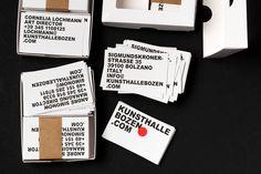 Branding for Kunsthalle Bozen by Studio Mut