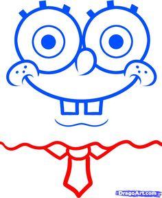 how to draw spongebob easy step 4
