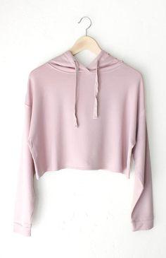 Dusty Pink Cropped Hoodie