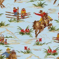 BARN DANDY's Fabric 2FQs = ½ yard+ Cowboy Western Rodeo Alexander Henry