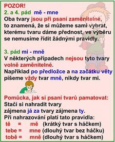 SKLOŇOVÁNÍ ZÁJMEN Teaching Posts, Prepositions, School Hacks, Good Advice, Kids And Parenting, Montessori, Vocabulary, Worksheets, Homeschool
