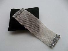Herringbone bracelet Beadwork bracelet Seed bead by GULDENTAKI,