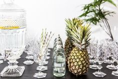 DIY/decor - you can't go wrong with decorative pineapples.