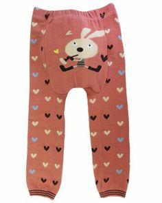 """Dotty Fish - Jambières en laine """"Coeurs roses"""" pour bébés et jeunes enfants Dotty Fish."""