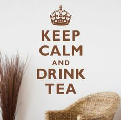 Keep Calm and Drink Tea' - Wall quote sticker - Art WA240X MEDIUM / BLACK: Amazon.co.uk: Kitchen & Home