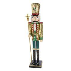 Kurt Adler Wooden Sequins Nutcracker King, 32-Inch *** Startling review available here  : Christmas decor