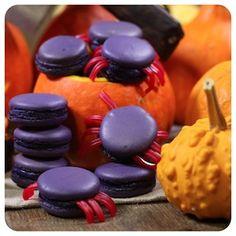 Macaron de Figo e Framboesa - Receita de Halloween