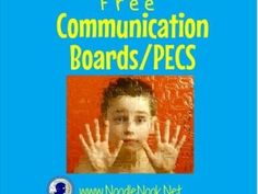 Free Communication Boards-PECS for Autism via NoodleNook -Great