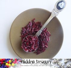 Red Tube Beads 20g. Great for small projects. by HTCandyBeads, $2.00