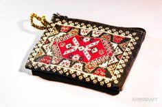 Embroidered wallet boho - AFRIKRAAFT