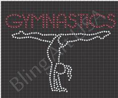 Rhinestone Gymnastics Template Download