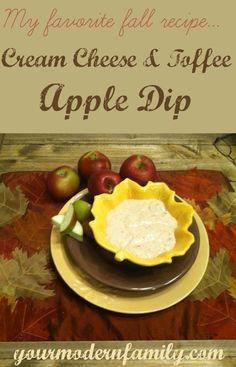 My favorite recipe: cream cheese and toffee apple dip recipe