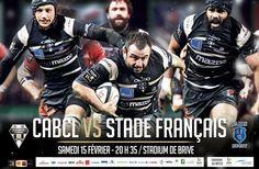 Rugby Brive reçoit le Stade Français. Le samedi 15 février 2014 à brive-la-gaillarde.  20H35