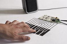 Hardware que permite es uso de tinta conductora como sensor e interruptor | La Guarida Geek