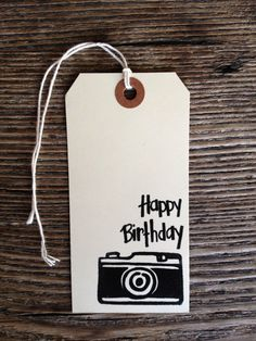 For my photography happy friends! :) Happy Birthday Camera Large tags by arizonaperkins on Etsy, $3.00