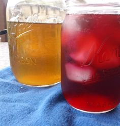 licorice mint and hibiscus teas