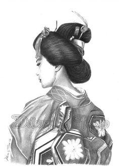 Geisha by deboratsuki.deviantart.com on @deviantART
