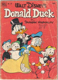 Four Color 379 - Scrooge - Donald Duck - Southern Hospitality - Cotton - Bag Vintage Comic Books, Vintage Comics, Comic Books Art, 1970s Cartoons, Classic Cartoons, Jim Henson, Disney Duck, Walt Disney, Disney Land