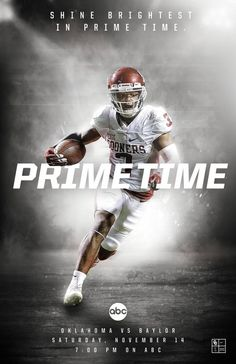 2016 Oklahoma Football on Behance - football - Sport Football Ads, Football Design, Football Photos, College Football, Football Football, Football Program, Sports Advertising, Sports Marketing, Sports Graphic Design