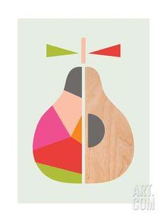 Geometric Pear Giclee Print by Little Design Haus at Art.com