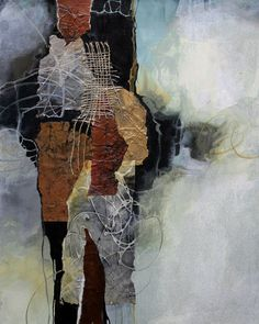 Cloud Kiss, 062318 by Carol Nelson mixed media ~ 20 inches x 16 inches Mixed Med. - Cloud Kiss, 062318 by Carol Nelson mixed media ~ 20 inches x 16 inches Mixed Media Neutral palette - Art Grunge, Collage Art Mixed Media, Mixed Media On Canvas, Mixed Media Artists, Encaustic Art, Contemporary Abstract Art, Watercolor Artists, Mix Media, Abstract Photography
