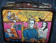 The Munsters lunchbox Retro Lunch Boxes, Lunch Box Thermos, Cool Lunch Boxes, Metal Lunch Box, Bento Box Lunch, Childhood Images, Childhood Memories, Lunch Box Image, Vintage Ads