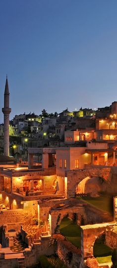 Romantic night lights of Turkey