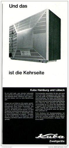 Original-Werbung/ Anzeige 1969 - ANZEIGENSTRECKE 2 X KUBA FERNSEHER - je ca. 115 x 240 mm