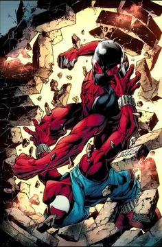 Amazing Spiderman, Black Spiderman, Spiderman Art, Scarlet Spider Ben Reilly, Scarlet Spider Kaine, Dc Comics Superheroes, Marvel Comics Art, Harley Quinn Comic, Marvel Drawings