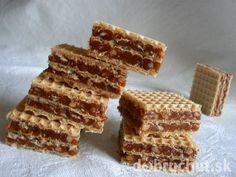 Plnené oplátky - My site Czech Recipes, Russian Recipes, Mexican Food Recipes, Sweet Recipes, Dessert Recipes, Christmas Sweets, Christmas Baking, Desserts With Biscuits, Ice Cream Candy