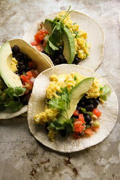 Turn plain scrambled eggs into tasty breakfast tacos.