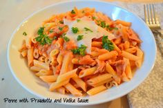 Penne with Prosciutto and Vodka Sauce