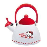 Wish | Hello Kitty Enamel Stove Top Whistling Tea Kettle Heart Red Sanrio