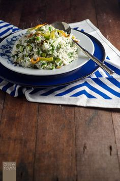 Zucchini Flower Rice Salad Recipe | Chew Town Food Blog