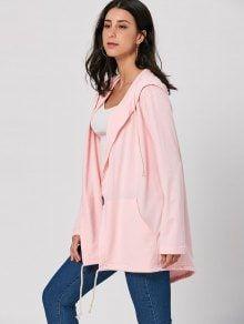 Drawstring Long Hooded Coat