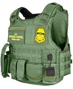 U.S. Armor | USBP - United States Border Patrol - Ranger 2012 (Front) | Custom Fit Body Armor | You'll Wear It! | www.usarmor.com