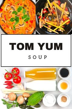 This is a simple yet delicious creamy tom yum soup: a Thai hot and sour soup that is aromatic, rich, spicy, and satisfying! Plus, this recipe is customizable, meat-free, and can be made vegan! Tom Yum Noodle Soup, Tom Yum Noodles, Tom Yum Soup, Vegetable Crisps, Tomato Vegetable, Vegetarian Snacks, Healthy Snacks, Thai Hot And Sour Soup, Mushroom Varieties